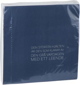 Servett citat 40×40, blå