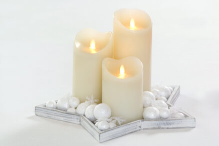 Magic flame candle 75x125mm, wh timer