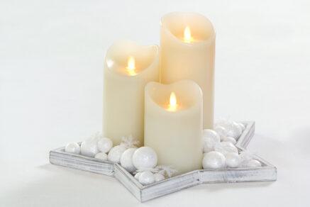 Magic flame candle 75×125 cream timer