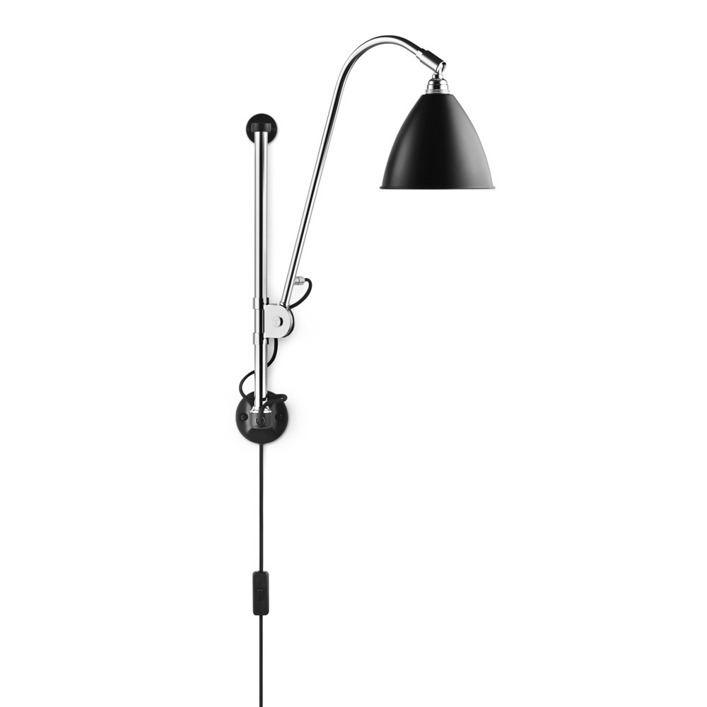 Gubi Vägglampa Bestlite BL5 svart/krom