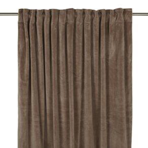 Gardin Velvet mellan brun 280 cm
