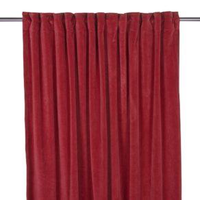 Gardin Velvet Röd 280 cm