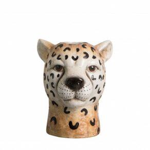 Vase Cheetah small 19x18x20 brown