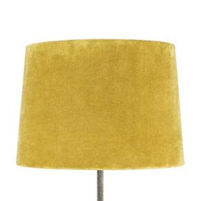 Lampskärm sammet gul stor