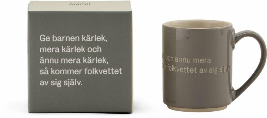 Astrid Lindgren mugg grå