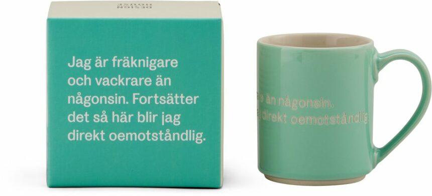 Astrid Lindgren mugg ljusgrön