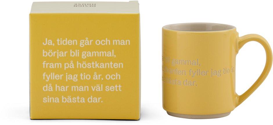 Astrid Lindgren mugg gul