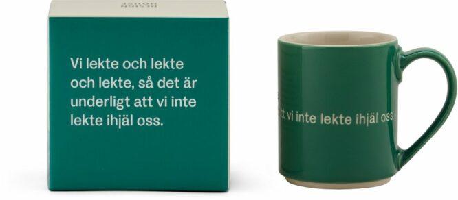 Astrid Lindgren mugg mörkgrön