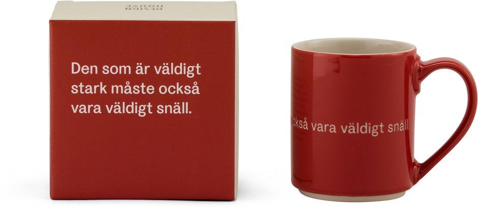 Astrid Lindgren mugg röd