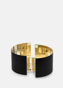 infinity candle holder small blk
