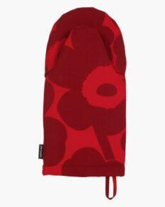 Pieni Unikko oven mitten, red dark red