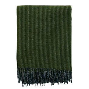 Ullpläd Shimmer, Buteljgrön 130x200cm