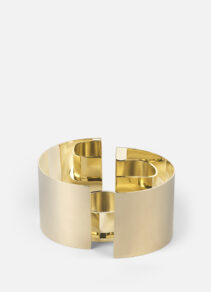 infinity candle holder Small, Brass