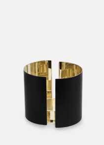 infinity candle holder Large black