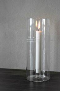 Reflektion klarglas 10x25cm