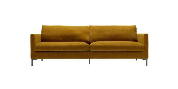 Impulse 4-sits Lux, 236×92 Moss Mustard pgr 3 Fast klädsel stomme