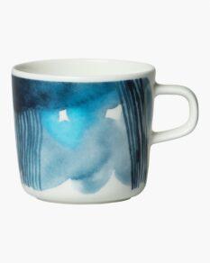 Sääpäiväkirja coffee cup 2 dl white, blue