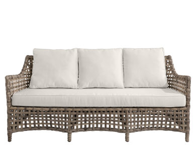 Malaga Soffa 3-sits komplett med dynpaket natur 180xd80xh79 cm