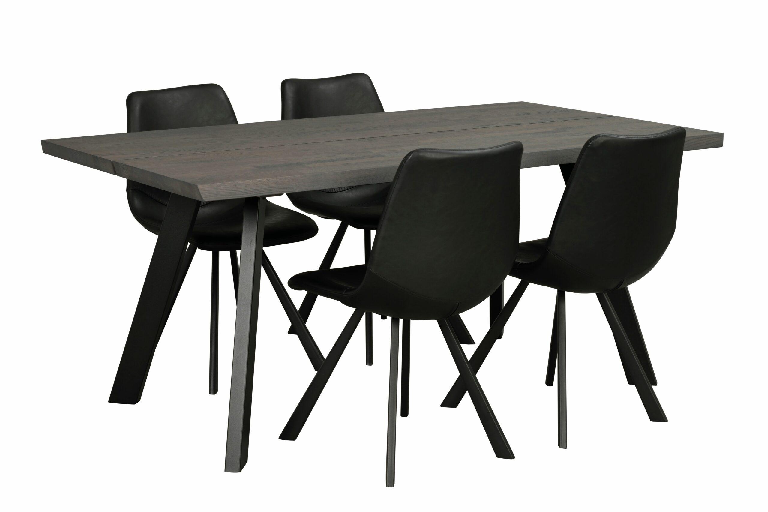 Fred matbord 170×95 mörkbrun ek/svart