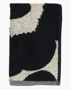 Unikko guest towel 30×50 cm, navy/light grey