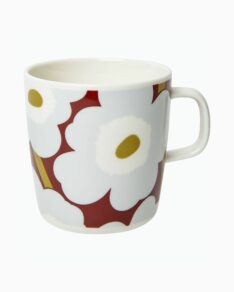 Unikko mug 4 dl wine-red/gray/olive