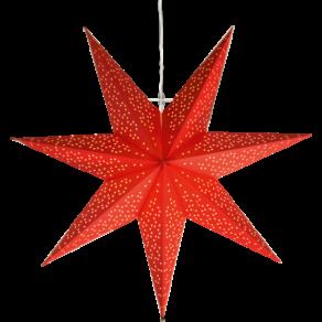 Dot 54cm stjärna Röd