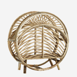 Round cane magazine rack d49x19,5 cm