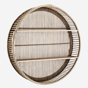 Round Bamboo shelf D60 cm