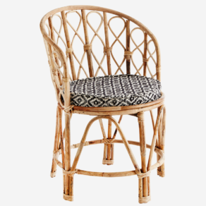 Bamboo chair with chair pad D:46×76 cm