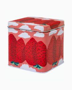 Mansikkavuoret tin box, 11x11cm