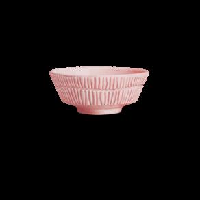 Stripes Skål 15×6 cm/50cl Ljusrosa