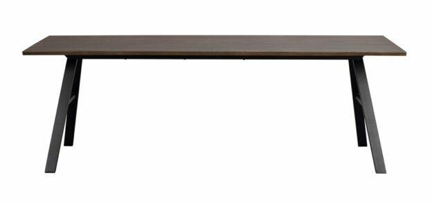 Brigham matbord 220×90 cm Brun vildek/svart met.